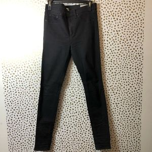 RAG & BONE high rise BLACK skinny jean SIZE 30